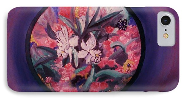 IPhone Case featuring the painting My Lilies by Christy Saunders Church