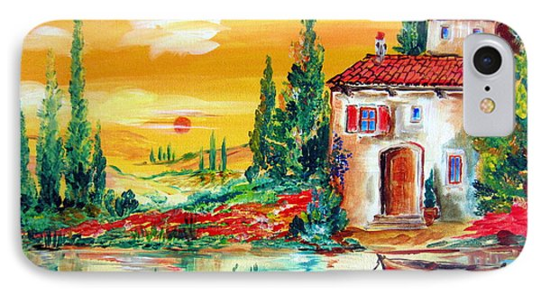 My Little Tuscany Home By The River IPhone Case