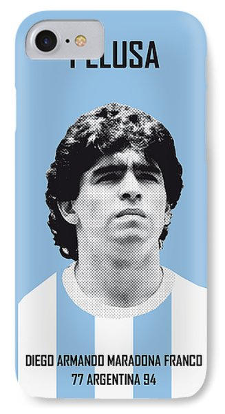 My Maradona Soccer Legend Poster IPhone Case by Chungkong Art