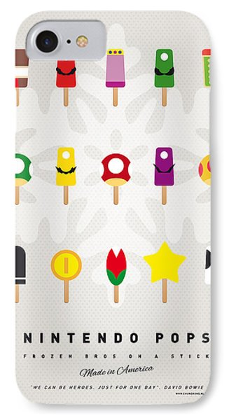 Mushroom iPhone 7 Case - My Mario Ice Pop - Univers by Chungkong Art