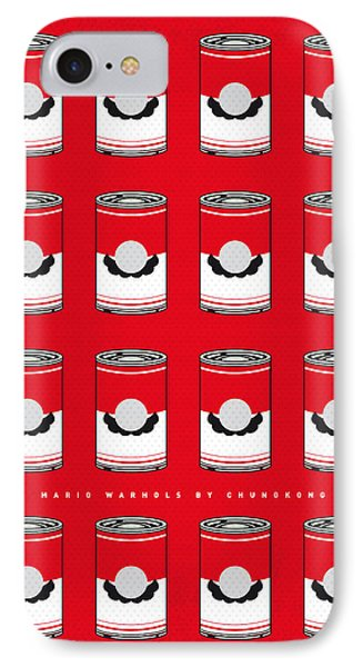 My Mario Warhols Minimal Can Poster-mario-2 IPhone Case by Chungkong Art