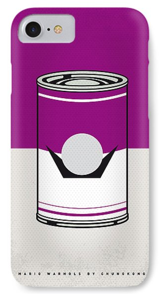 My Mario Warhols Minimal Can Poster-waluigi IPhone Case by Chungkong Art