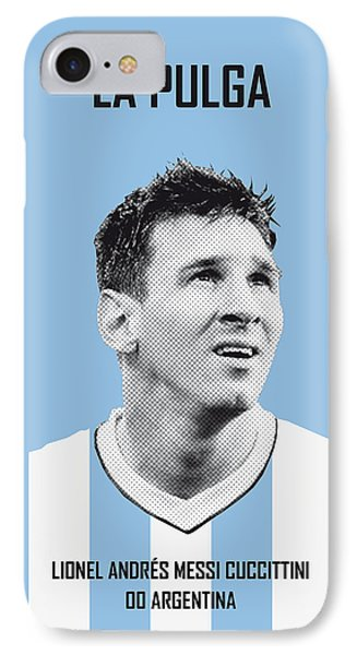 Barcelona iPhone 7 Case - My Messi Soccer Legend Poster by Chungkong Art