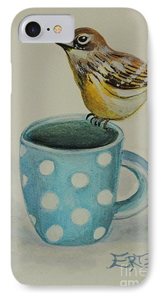 Polka Dot Songbird Delight IPhone Case by Elizabeth Robinette Tyndall