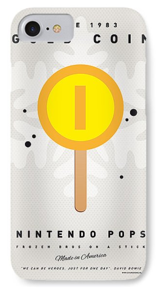 Mushroom iPhone 7 Case - My Nintendo Ice Pop - Gold Coin by Chungkong Art
