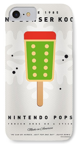 Mushroom iPhone 7 Case - My Nintendo Ice Pop - King Bowser by Chungkong Art