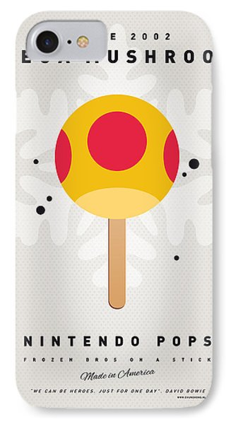 Mushroom iPhone 7 Case - My Nintendo Ice Pop - Mega Mushroom by Chungkong Art