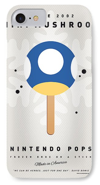 Mushroom iPhone 7 Case - My Nintendo Ice Pop - Mini Mushroom by Chungkong Art