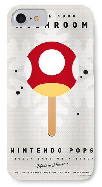 Mushroom iPhone 7 Case - My Nintendo Ice Pop - Mushroom by Chungkong Art