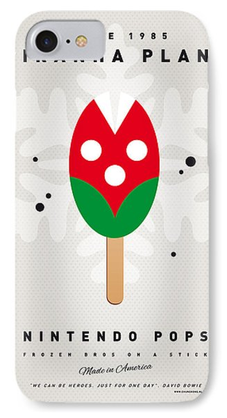 Mushroom iPhone 7 Case - My Nintendo Ice Pop - Piranha Plant by Chungkong Art