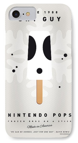 Mushroom iPhone 7 Case - My Nintendo Ice Pop - Shy Guy by Chungkong Art