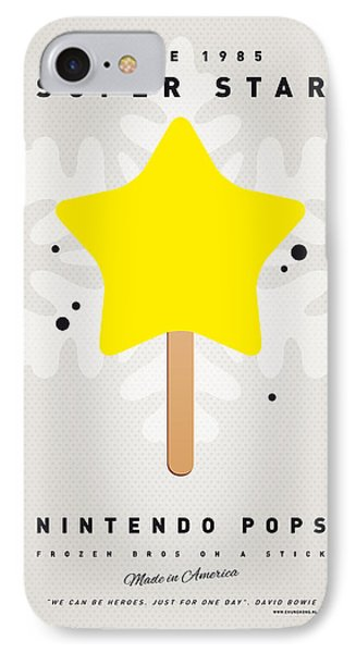 Mushroom iPhone 7 Case - My Nintendo Ice Pop - Super Star by Chungkong Art