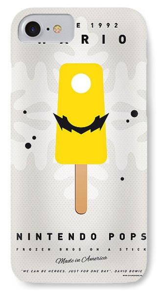 Mushroom iPhone 7 Case - My Nintendo Ice Pop - Wario by Chungkong Art
