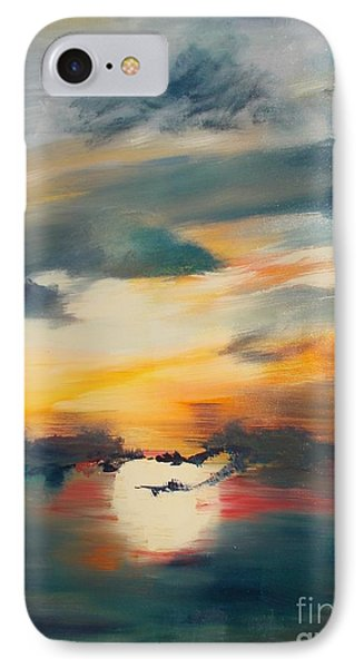 IPhone Case featuring the painting My Paradise Sunrise by PainterArtist FIN