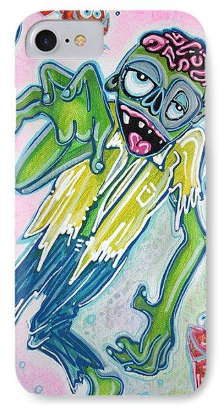 My Pet Zombie #3 / Fish Bait Phone Case by Laura Barbosa