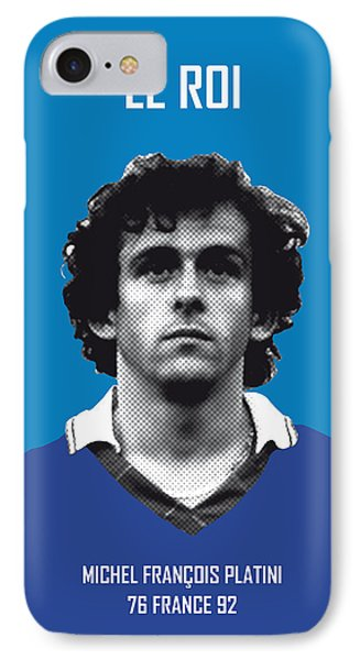 My Platini Soccer Legend Poster IPhone Case by Chungkong Art