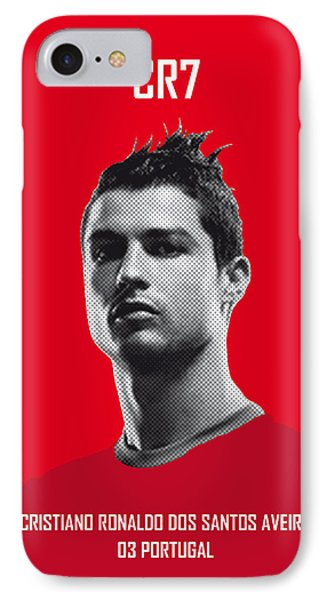 Barcelona iPhone 7 Case - My Ronaldo Soccer Legend Poster by Chungkong Art