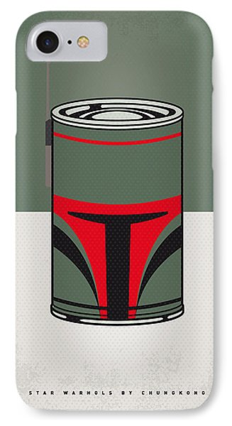 Tomato iPhone 7 Case - My Star Warhols Boba Fett Minimal Can Poster by Chungkong Art