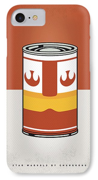 Tomato iPhone 7 Case - My Star Warhols Luke Skywalker Minimal Can Poster by Chungkong Art