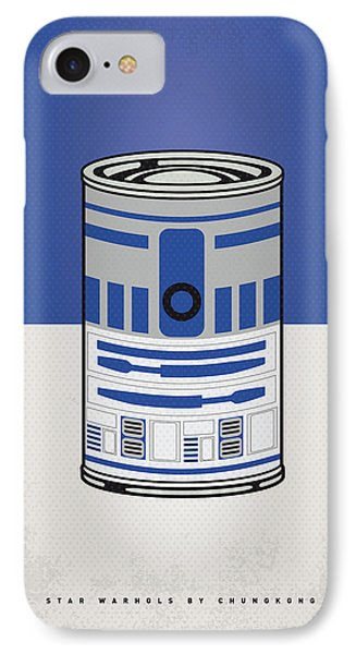 Tomato iPhone 7 Case - My Star Warhols R2d2 Minimal Can Poster by Chungkong Art