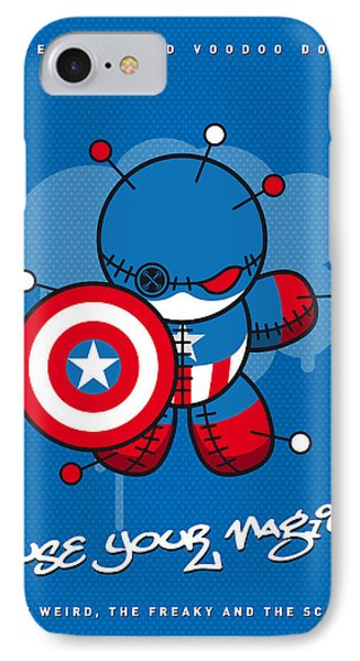 My Supercharged Voodoo Dolls Captain America IPhone Case by Chungkong Art