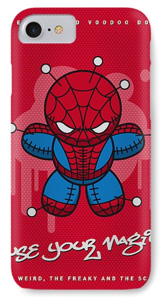 My Supercharged Voodoo Dolls Spiderman IPhone Case by Chungkong Art