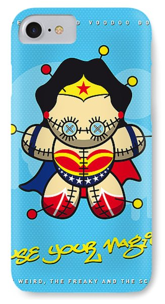 My Supercharged Voodoo Dolls Wonder Woman IPhone Case by Chungkong Art
