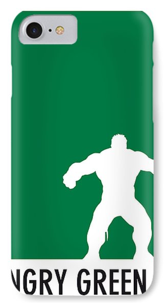 My Superhero 01 Angry Green Minimal Poster IPhone Case