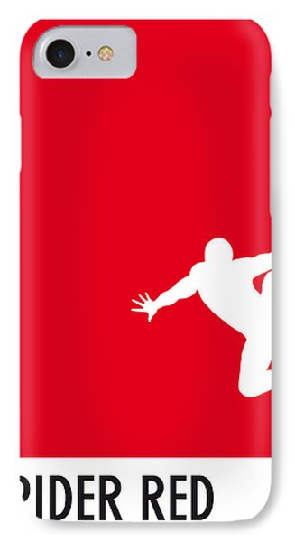 My Superhero 04 Spider Red Minimal Poster IPhone Case by Chungkong Art