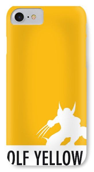 My Superhero 05 Wolf Yellow Minimal Poster IPhone Case