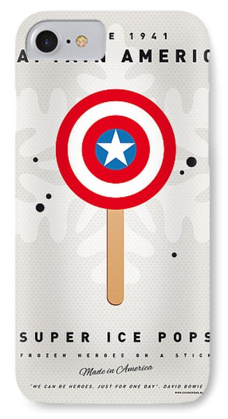 My Superhero Ice Pop - Captain America IPhone Case