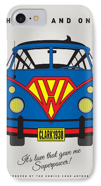 My Superhero-vw-t1-superman IPhone Case by Chungkong Art