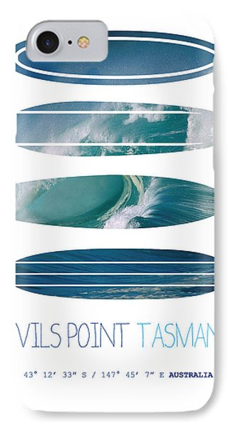 My Surfspots Poster-5-devils-point-tasmania IPhone Case