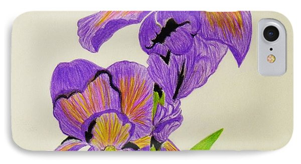 My Sweet Iris IPhone Case by Celeste Manning