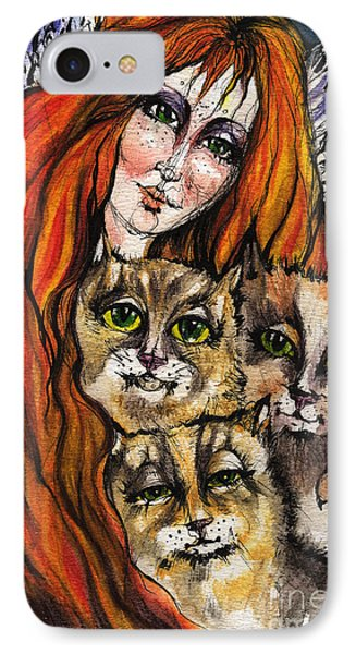 My Three Cats Phone Case by Angel  Tarantella