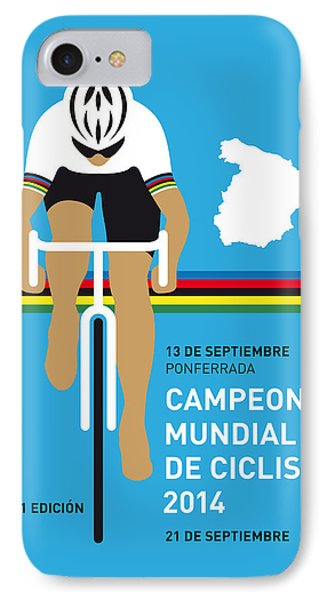 My Uci Road World Championships Minimal Poster 2014 IPhone Case by Chungkong Art