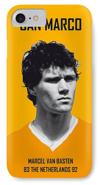 My Van Basten Soccer Legend Poster IPhone Case by Chungkong Art