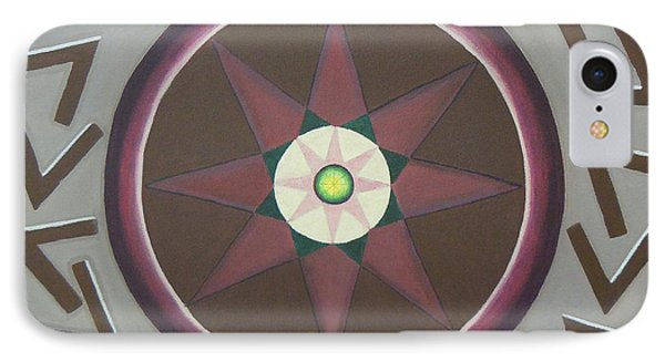 IPhone Case featuring the painting My Yantra by Mini Arora