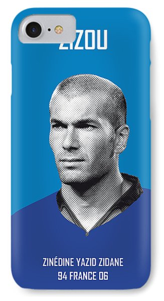 My Zidane Soccer Legend Poster IPhone Case by Chungkong Art