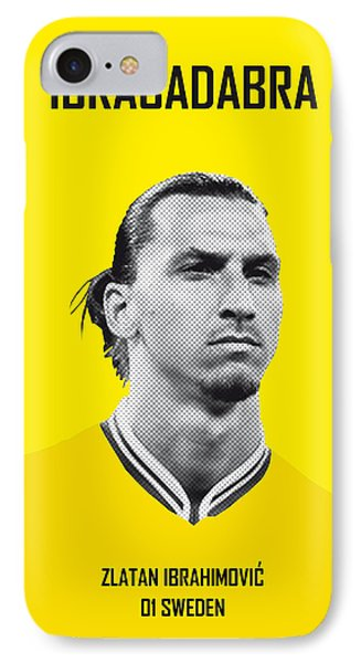 Barcelona iPhone 7 Case - My Zlatan Soccer Legend Poster by Chungkong Art