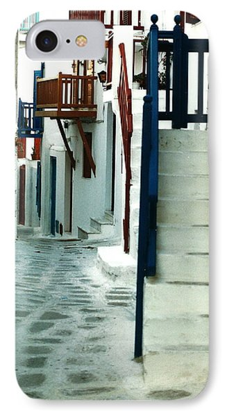 IPhone Case featuring the photograph Mykonos Charm by Jacqueline M Lewis