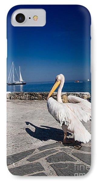 Mykonos Pelican IPhone Case