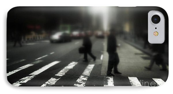Mysterious Business Men In New York City Crosswalk Phone Case by Amy Cicconi