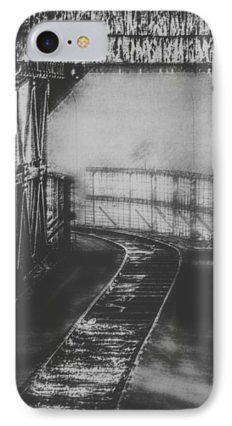 Mysterious Train Tracks Phone Case by Melanie Lankford Photography