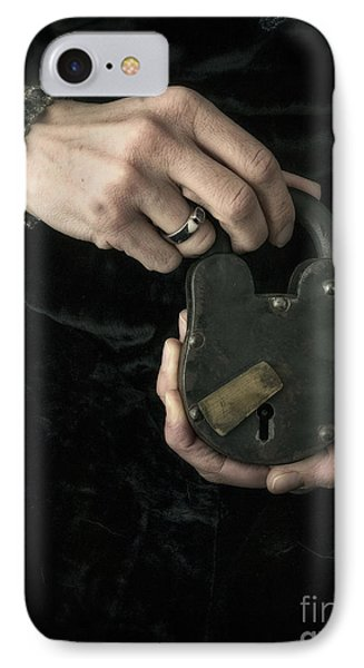 Mysterious Woman With Lock IPhone Case