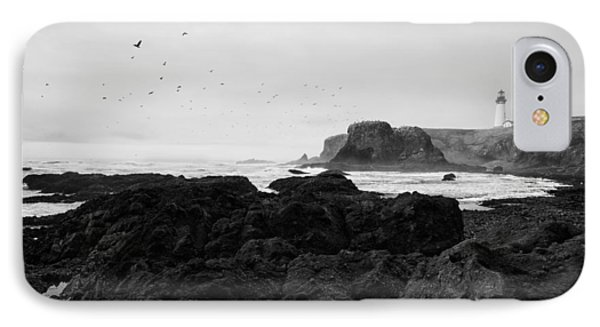 Mysterious Yaquina Head IPhone Case by Mark Kiver