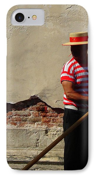 IPhone Case featuring the photograph Mystery Gondolier by Ramona Johnston