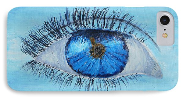 IPhone Case featuring the painting Mystic Eye by Pamela  Meredith