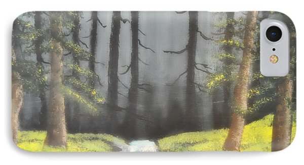 IPhone Case featuring the painting Mystic Forest by Mindy Bench