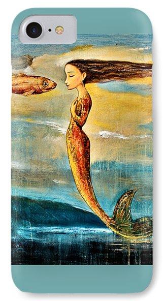 Mermaid iPhone 7 Case - Mystic Mermaid IIi by Shijun Munns